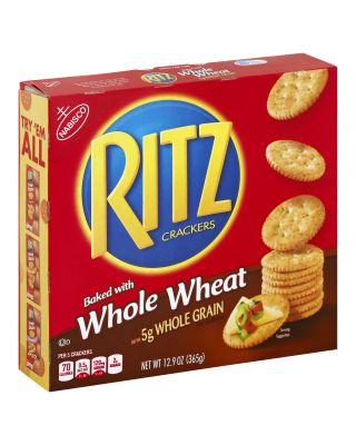 Ritz Cracker Whole Wheat 12/12.9oz *Non Stock*
