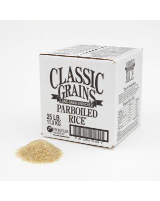 Par Boiled Rice, Classic Grains 25 pound Box
