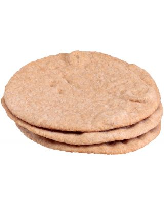 "Pita Bread 6"" Whole Wheat (No Pocket) Kronos"