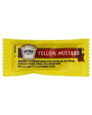 Mustard Yellow Portion Packs Heinz 500/C