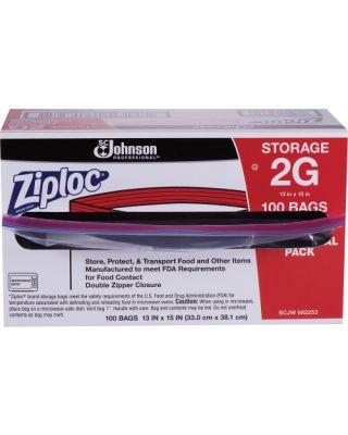 Ziplock Food Storage bags -2 Gallon - 100 ct