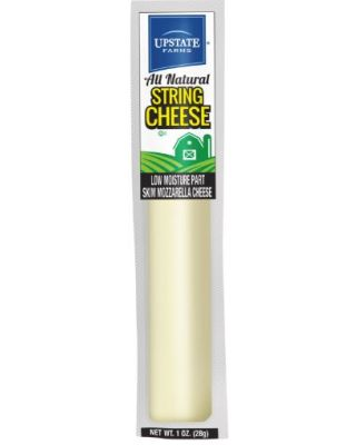 Mozzarella Light String Cheese 168/1 oz Upstate Farms