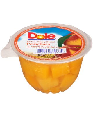 DICED PEACH FRUIT BOWL IN JUICE 36/4OZ