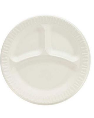 """9"""" Foam Plate 3-Compartments 500ct"""