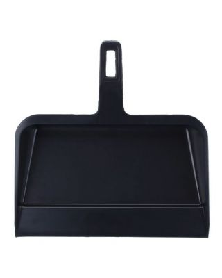 Dust Pan Black Plastic 1/ea