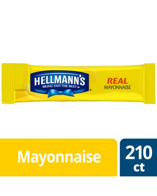 Hellmans Mayonnaise 0.38 oz Portion Packs 210ct